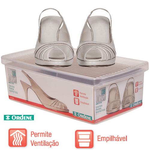 Caixa De Sapato Transparente Para Organizar - Médio