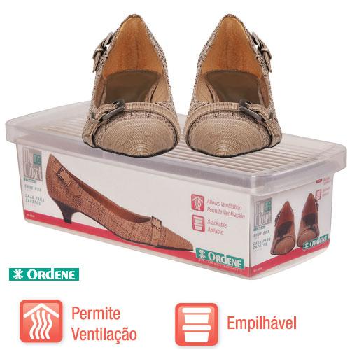 Caixa De Sapato Transparente Para Organizar - Pequeno