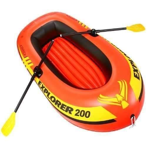 Bote Inflável 200 Intex 2 Pessoas Até 95kg + Remo + Bomba