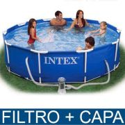 Piscina Intex 4485 Litros Estrutural Capa Bomba Filtrante