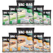 Combo: 10 Saco A Vácuo Vac Bag Com 5 Extra + 5 Grande Ordene
