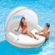 Ilha Relaxante Inflável Com Cobertura e Porta Copos Spa Lounge Intex
