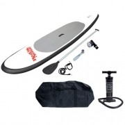Prancha Standup Paddle Inflável Stand Up + Remo Bolsa Bomba Red Nose