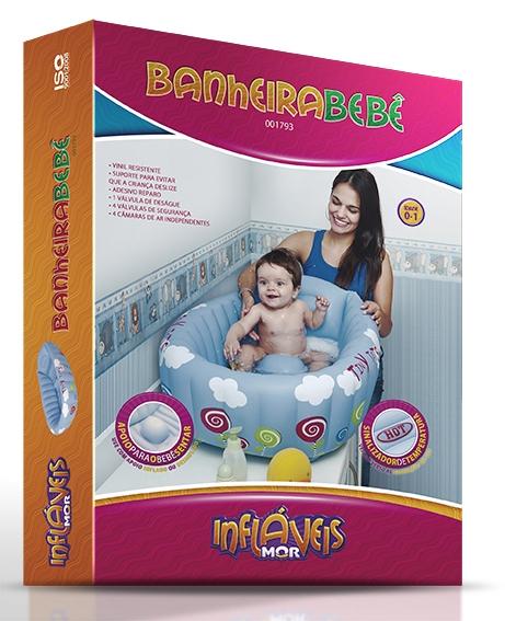 Banheira Inflável Bebê + Indicador Temperatura Piscina