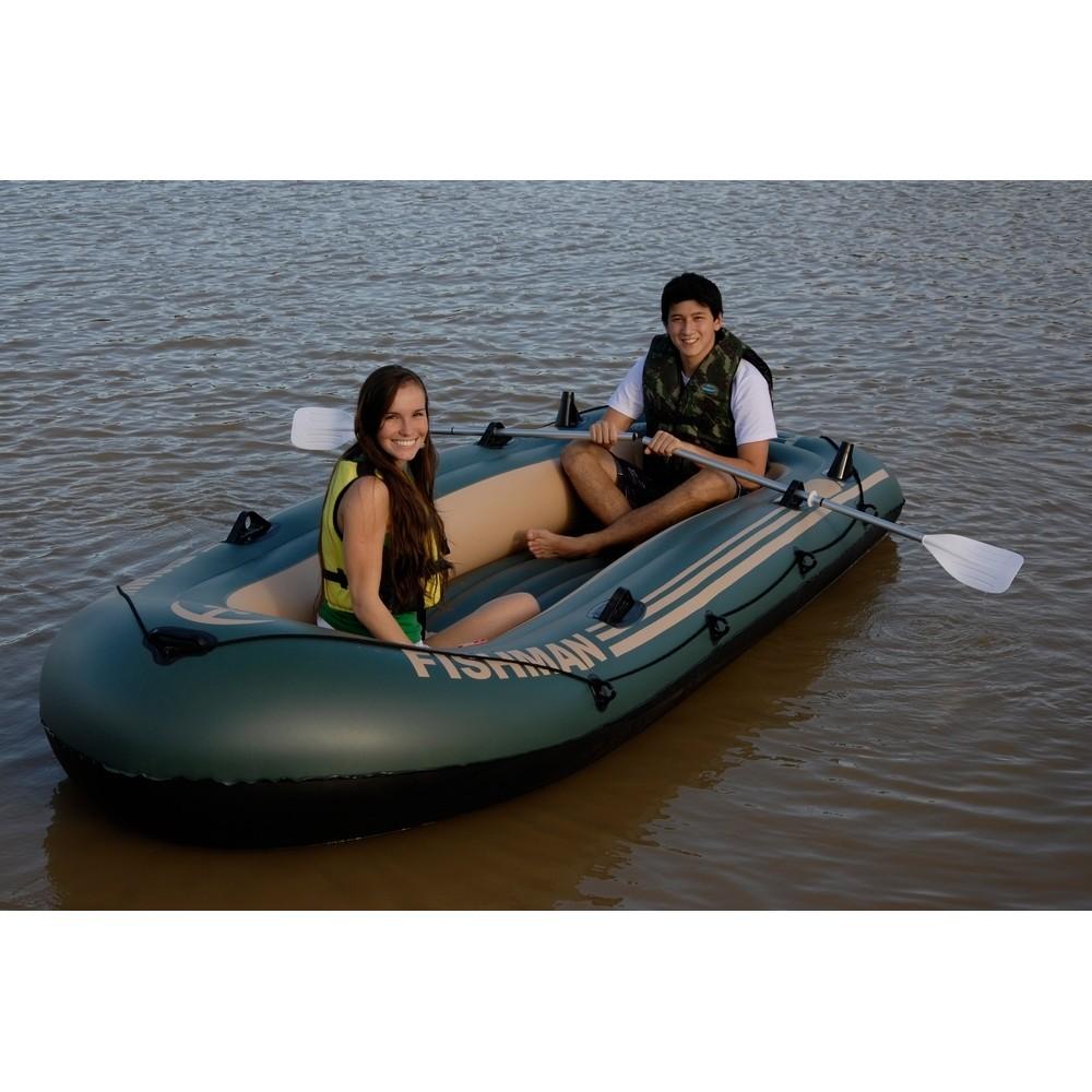 Barco Inflável Fishman 400 Mor Com Inflador + Remos
