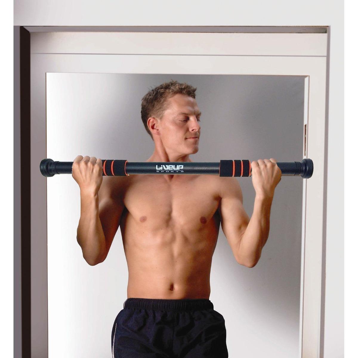 Barra De Exercício Para Porta - Liveup Performance Até 120kg