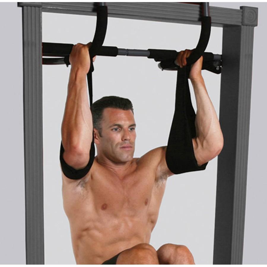 Barra Para Porta Iron Gym Multifuncional - 2 Tipóias Live Up