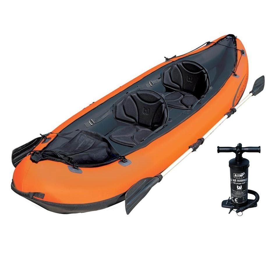 Caiaque Inflável Hydro Force Ventura Par Remos Canoa Bestway