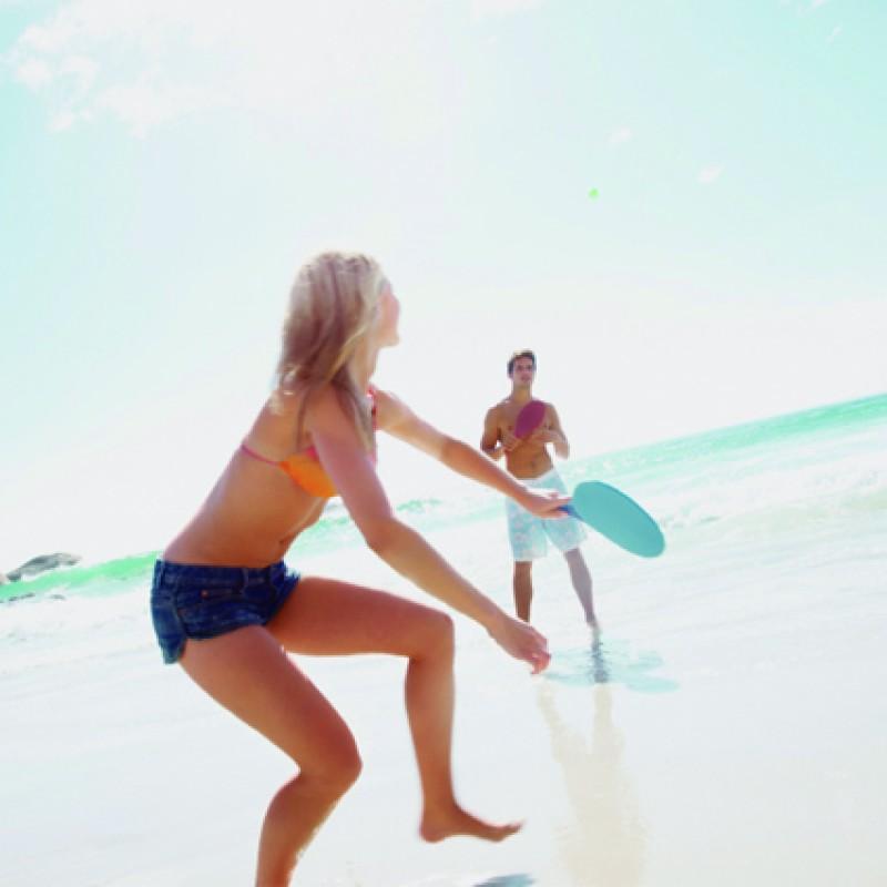 Frescobol Aloha Com Bola - Vermelho