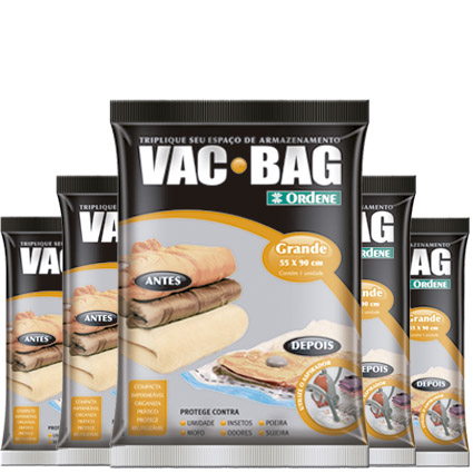 Combo: 5 Saco A Vácuo Protetor Vac Bag 55 X 90 Ordene Grande