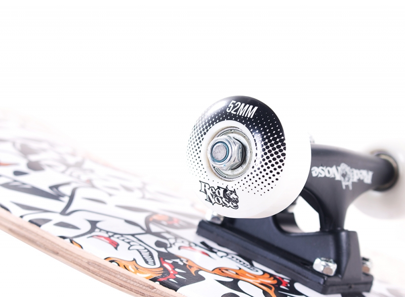 Skate Profissional Completo Red Nose Pró Abec5 Pu-90a Branco