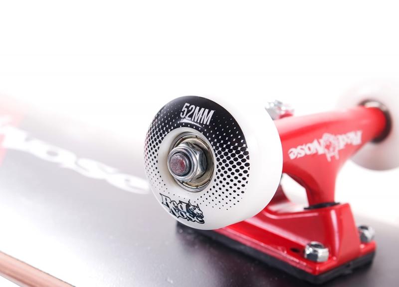Skate Profissional Completo Red Nose Pró Abec5 Pu-90a Vermelho