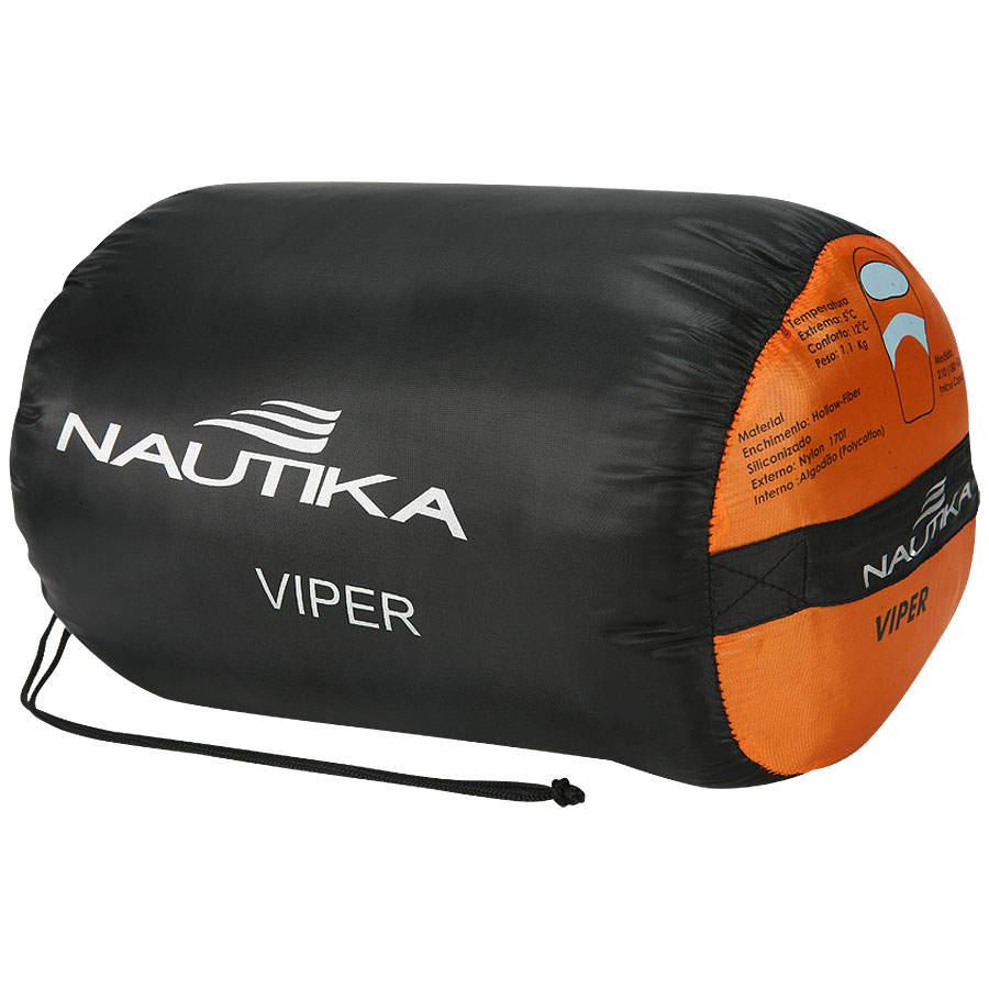 Saco De Dormir C/ Capus Viper 5ºc A 12ºc - Nautika + Sacola