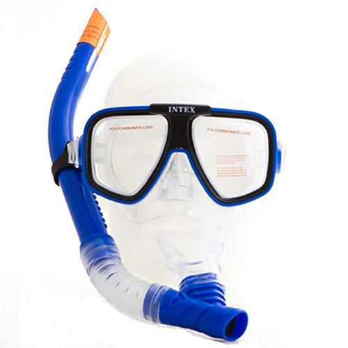 Kit Mergulho Com Máscara E Snorkel Recife Intex Profissional