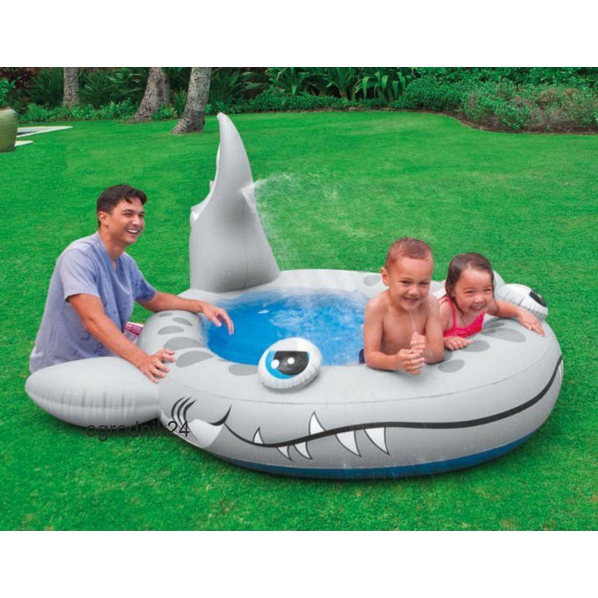 Piscina Inflável Spray Tubarão Infantil 159 L Intex 57443