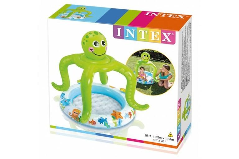 Piscina Infantil Inflável Cobertura Polvo Risonho - Intex