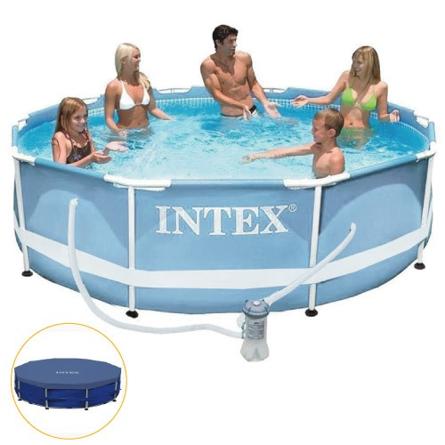 Piscina Intex 4.485 Litros Estrutural Capa Bomba Filtrante