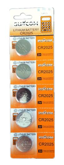 Bateria CR2025 3v Cartela C / 5 Unidades