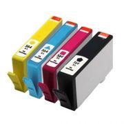 Kit Cartuchos Compatíveis HP 564 Preto Amarelo Ciano Magenta