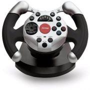 Controle Volante Dual Shock Racing PC USB 11 Bot�es - Maxprint