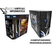 Computador CPU TOP Gamer FX 6300 4gb Ram HD 1TB DVD-RW Geforce 550TI Gabinete Titan Led Azul