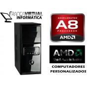 Computador Cpu Francavirtual AMD APU A8 QUAD CORE 3870K 3.0GHZ MB WISECASE FM1 4GB Ram HD 1TB Gravad