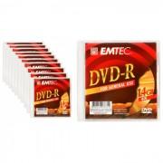 Emtec Mini DVD-R C/ Estojo 1.4GB Slim 10 Unidades