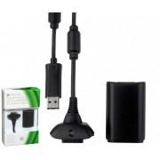 Kit Bateria Recarreg�vel P/ XBox 360 + Cabo Conex�o USB