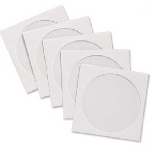Envelopes Brancos Cd - Dvd Com Visor Transparente - Pack Com 100 Unidades