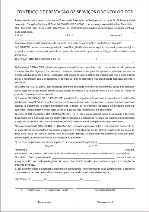 Contrato de Prestação de Serviço - Ref. 3281