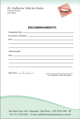 Bloco Encaminhamento Paciente - Ref. 3401