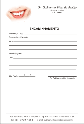 Bloco Encaminhamento Paciente - Ref. 3403