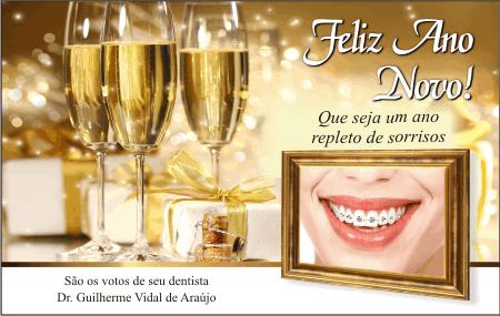 Cart�o de Natal - Ref. 1707  <br><font color=�#008000�>ORTODONTIA </font>