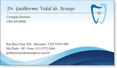 Cart�o de Visita Premium ORTODONTIA- Ref. 1975
