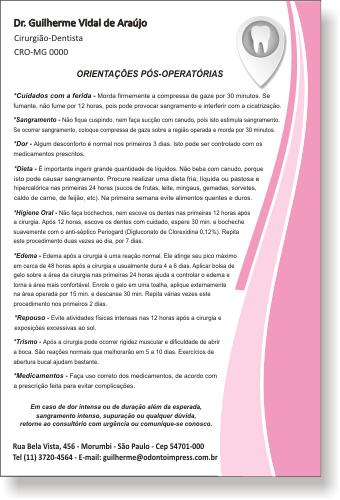 Orienta��es P�s-Operat�rias - Ref. 0590