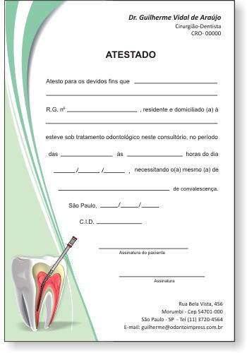 Atestado ENDODONTIA - Ref. 1053