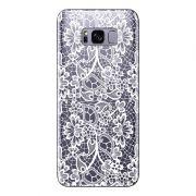 Capa Transparente Personalizada para Samsung Galaxy S8 Renda Branca - TP283