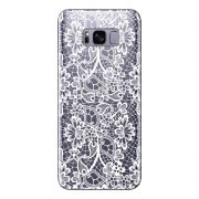 Capa Transparente Personalizada para Samsung Galaxy S8 Plus G955  Renda Branca - TP283