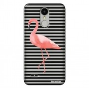 Capa Transparente Exclusiva para LG K4 2017 X230 Flamingo - TP317