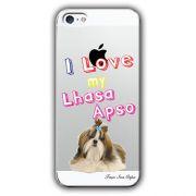 Capa Transparente Personalizada Exclusiva Apple Iphone 5/5S Lhasa Apso - TP78