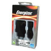 Kit de Carregador Portátil com 2 Saídas USB e Cabo Micro USB Energizer - Preto