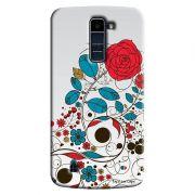 Capa Personalizada Exclusiva LG K10 TV K430DSF Textura Flores - TX04