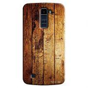 Capa Personalizada Exclusiva LG K10 TV K430DSF Textura Madeira - TX59