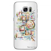 Capa Transparente Personalizada Exclusiva Samsung Galaxy S7 Edge Bateria - TP05
