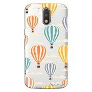 Capa Transparente Personalizada Exclusiva Motorola Moto G4 Plus Balões - TP04