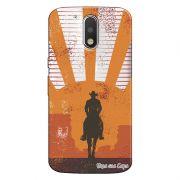 Capa Transparente Personalizada Exclusiva Motorola Moto G4 Plus Faroeste - TP23