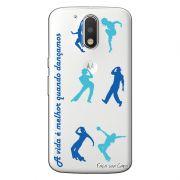 Capa Transparente Personalizada Exclusiva Motorola Moto G4 Plus Dance - TP24