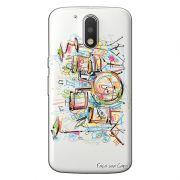 Capa Transparente Personalizada Exclusiva Motorola Moto G4 Play Bateria - TP05