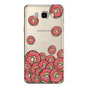 Capa Transparente Exclusiva Samsung Galaxy J7 2016 Eu Amo Donuts - TP108