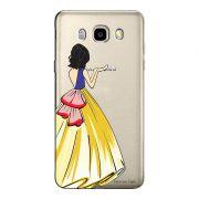 Capa Transparente Personalizada Exclusiva Samsung Galaxy J5 2016 Princesa Branca de Neve - TP203